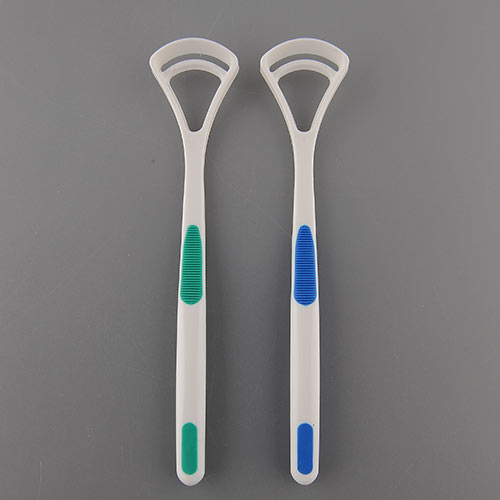 Effective 1Pair New Dental Care Tongue Clean Tool Fresh Good Breath Cleaner Scraper Handle Hygiene Reduce Tooth Decay(China (Mainland))