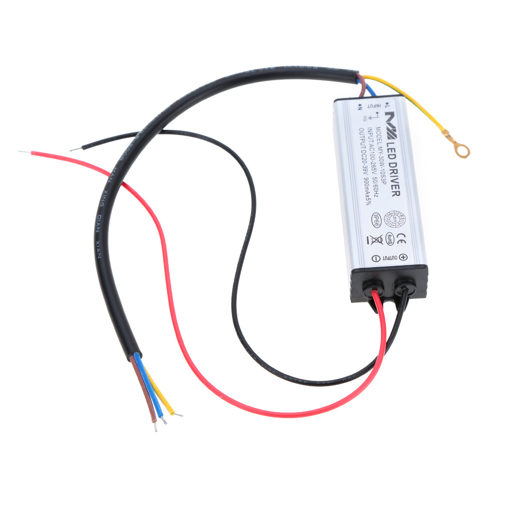 100-265V AC to 20-39V DC 30W LED Driver AC/DC Adapter Transformer Switch Power Supply IP66 CE RoHs(China (Mainland))