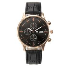 Wrist Watch For Luxury Fashion Faux Leather Band Mens Analog Quartz Watch Men s Business Watches