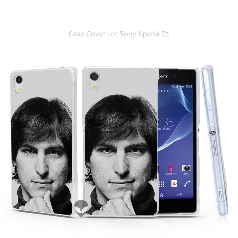 hc03 young steve jobs face Hard Transparent Clear Case Cover Coque for Sony Xperia Z2 Z3 Z3+ Plus Dual Z4(China (Mainland))