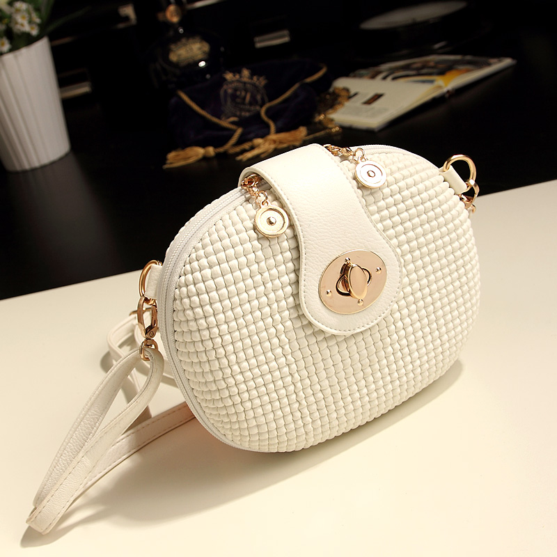 Best Selling Dropshipping New arrival 2016 summer mini candy color white messenger bag small bag women's bags(China (Mainland))