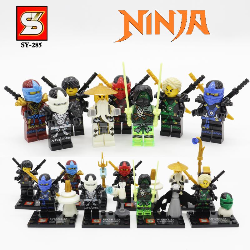 Гаджет  New Arrival SY285 8Pcs Ninja Kai Ninja Minifigures Building Blocks Set Model Bricks Toys Aciton Figures VS Star Wars Avengers None Игрушки и Хобби