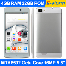 "Original Smartphone 4GB RAM 32GB ROM MTK6592 Octa Core 1.7GHz Android 5.0 16MP Camera 5.5"" 1920x1080p FHD Screen V19 Cell Phones(China (Mainland))"