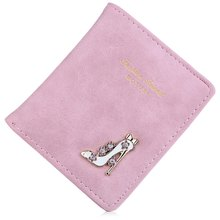 High Heeled Shoes Women Bifold Wallet Flower Letter Design Bag Rhinestone Cute Solid Candy Color Hasp Short Purses(China (Mainland))