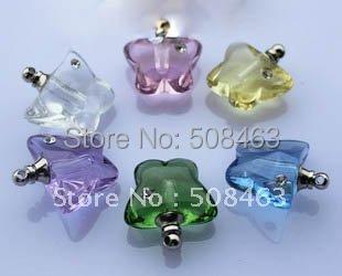 Ship Free! 100pcs #16  butterfly Diamond vial pendants Glass&amp;Crystal Vials perfume bottle Clearance<br><br>Aliexpress