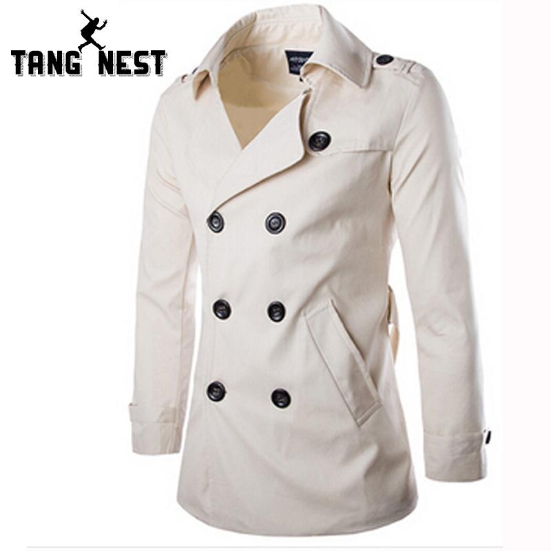 Abrigo blanco para hombre