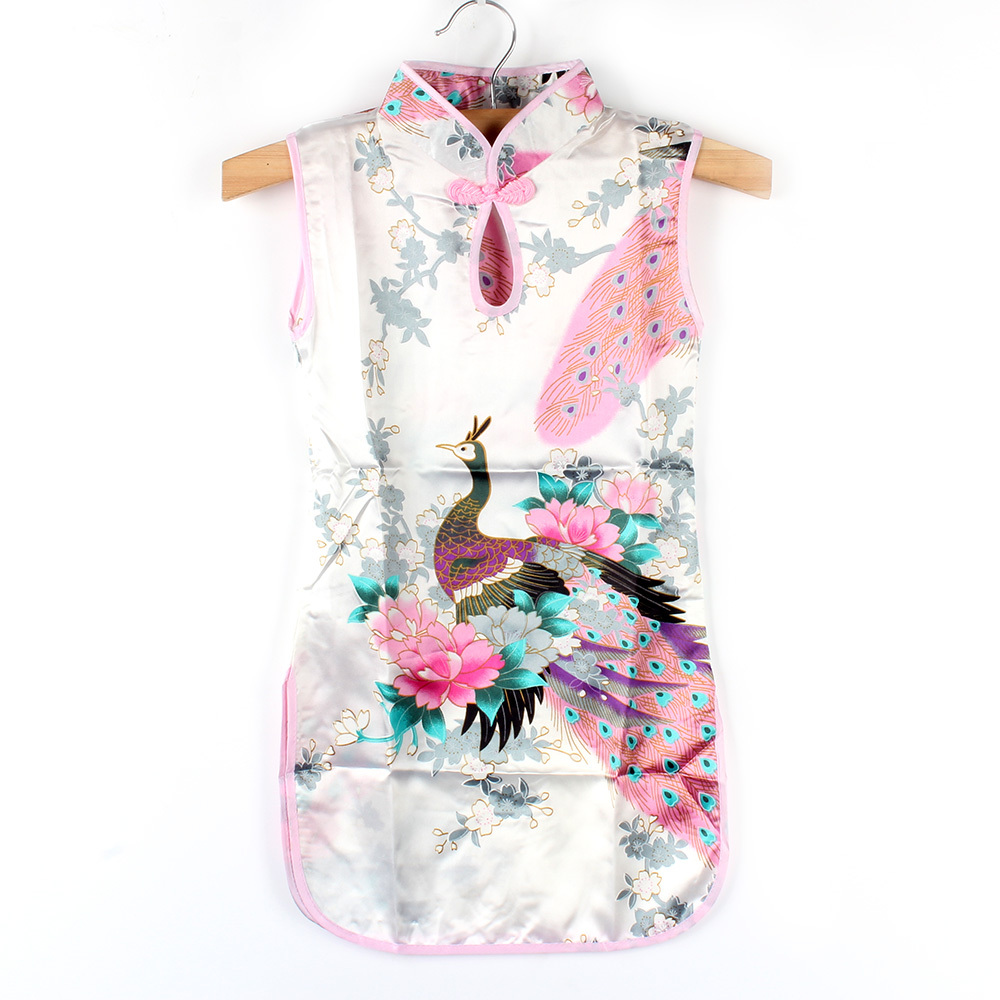 Hot Chinese Kid Child Girl Baby Peacock Cheongsam Dress Qipao 2-7 T  Clothes<br><br>Aliexpress