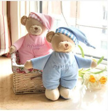 Baby plush bear toy soft gift for baby child newborn product boy girl safety free shipping(China (Mainland))