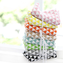 140cm*50cm 100% cotton linen tablecloths cushions fabrics curtain fabric basis triangle colorful printed fabric cloth diy sewing(China (Mainland))