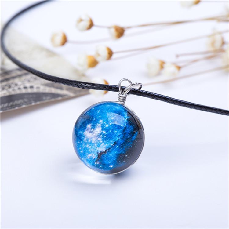 מוצר collares duplex planet crystal stars ball glass