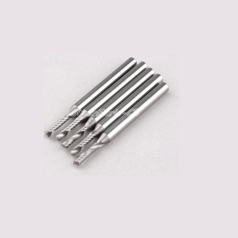 11/8'' CED 2mm CEL 8mm Carbide End Mill CNC Engraving Tools One Single Flute Spiral Bit Milling Cutter - SuperMario store