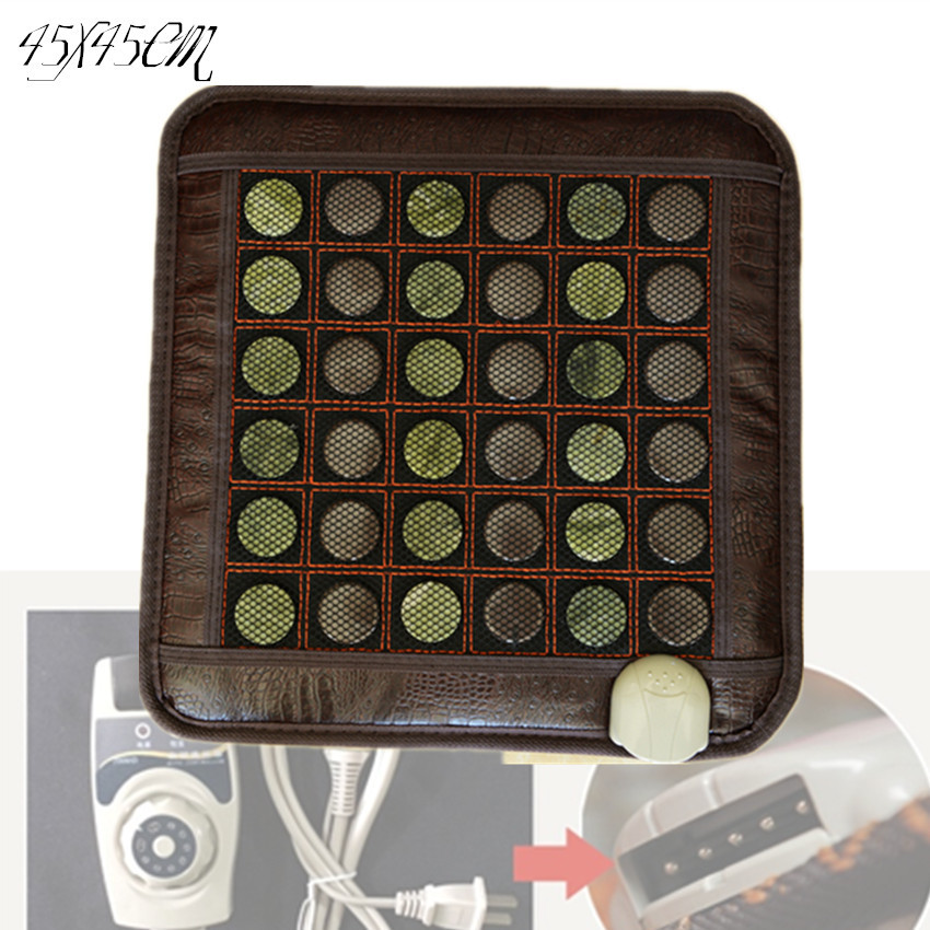 2015 best seller popular gift electric heated jade cushion sofa jade mattress remote controller 45*45CM<br><br>Aliexpress