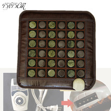 2015 new heating massage mat with stones tourmaline health products 45*45CM