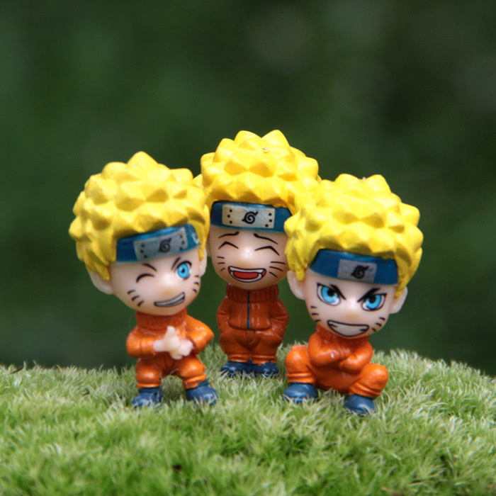 4.2cm 3pcs/set PVC cartoon japan anime naruto Action Figures movie Cell Phone Strap Charms mobile chain Strings Strap MPS052(China (Mainland))