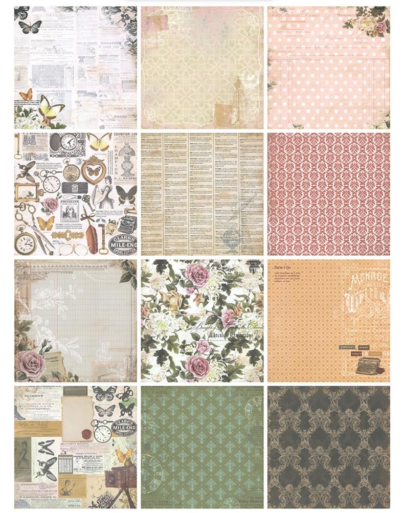 Scrapbook paper pads - New 6 Vintage Memories Floral Background Paper Pads Patterns 26sheets Diy Craft Scrapbooking Paper