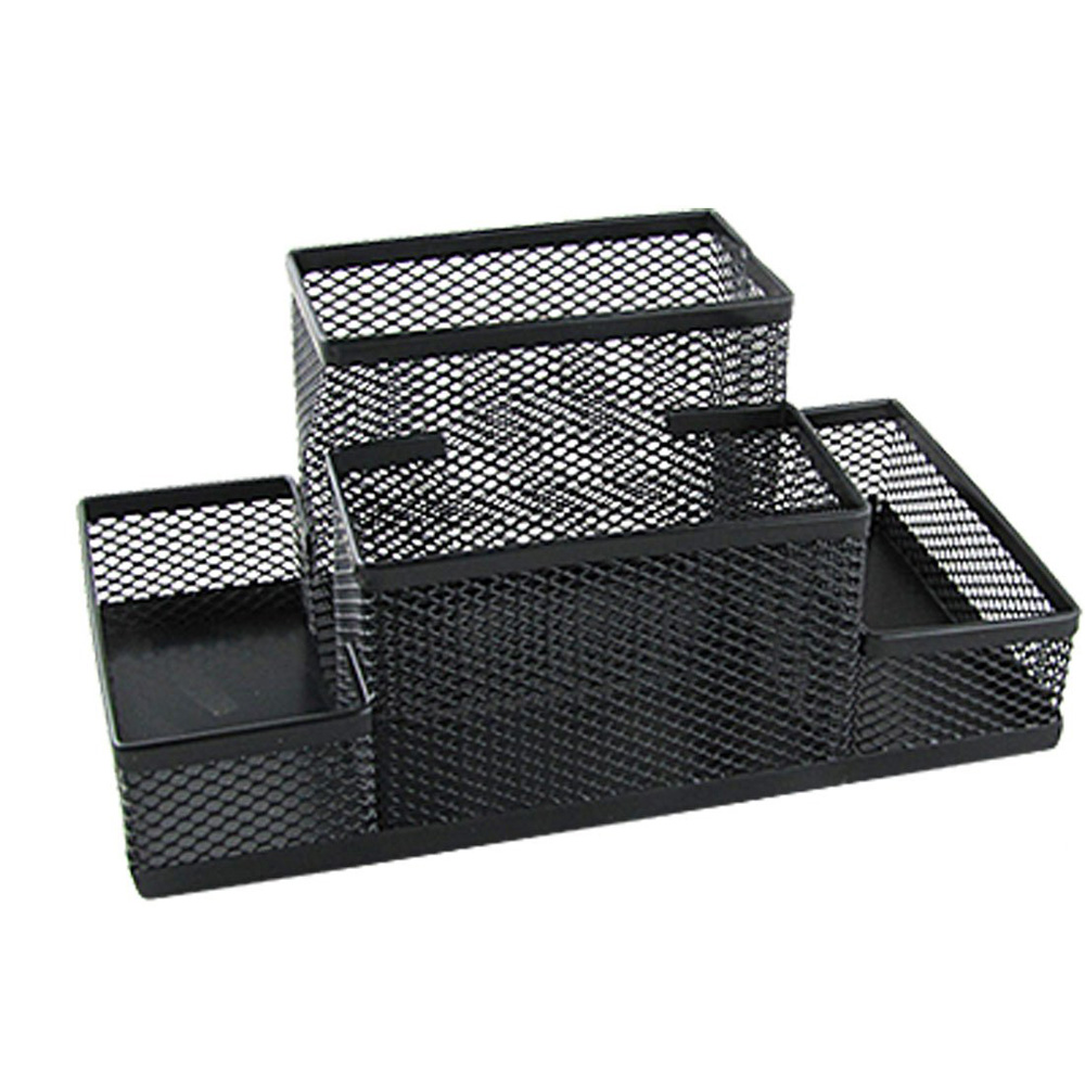 USA Delivery Amico Black Mesh Style Pen Pencil Ruler Holder Desk Organizer(China (Mainland))