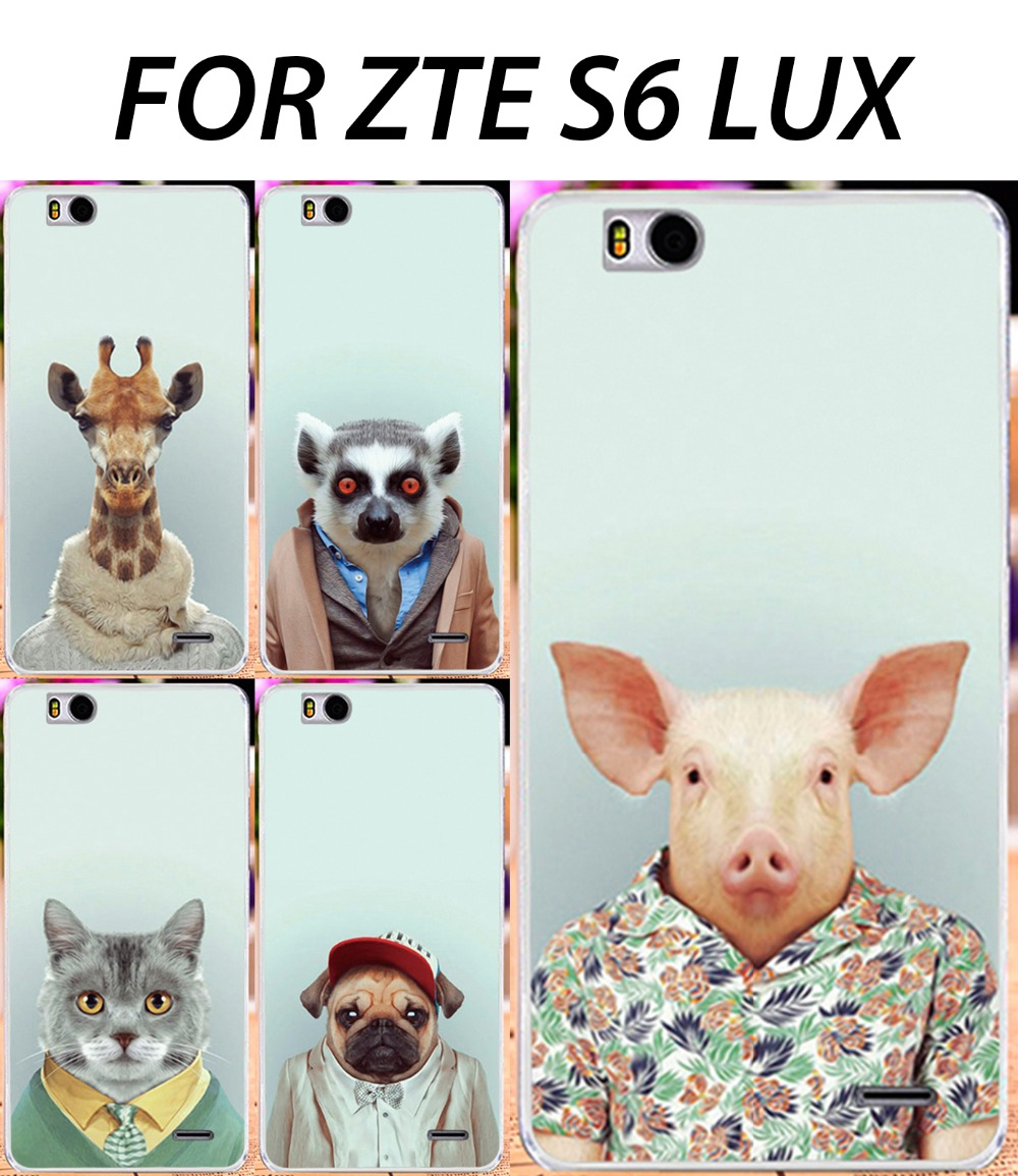 "Hot Case For ZTE S6 Lux,Animals DIY Painted Mobile Phone Case For ZTE Blade S6 lux S6 plus Q7 5.5""Back Cover Skin Shell Shield(China (Mainland))"