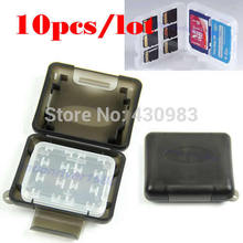 10pcs/lot New Plastic Case For Micro SD TF Memory Card Storage Holder Box Protector(China (Mainland))