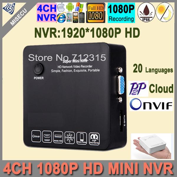 Misecu Mini NVR Onvif  4ch NVR 720P/960P/1080P HD Network Video Recorder WIFI IP Camera System Support External 3G Wifi IP CCTV