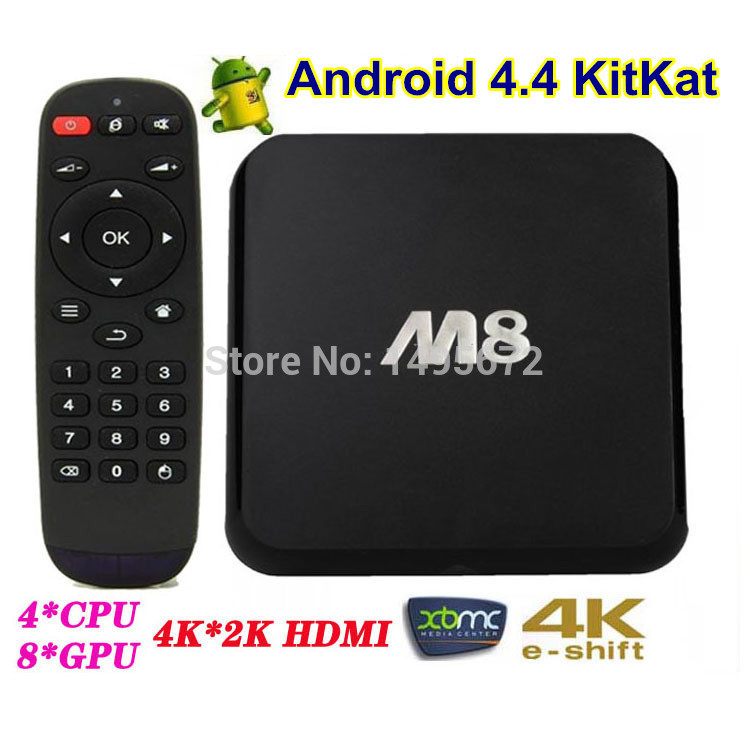 Hi-speed M8 S802 Quad Core Android TV Box Android4.4 OS XBMC 4K 2.0GHz 2GB 8GB Bluetooth 5G wifi H265 hdd Player(China (Mainland))