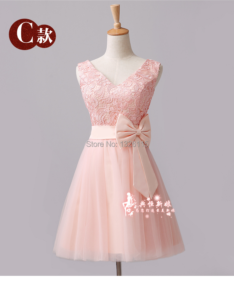 Plus size bridesmaid dresses 2015 lace flowers with big for Plus size pink wedding dresses