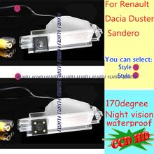 wired Wireless LEDS Car Rear camera night version for Renault Dacia Duster Sandero SONY CCD reversing parking assist wide angle(China (Mainland))