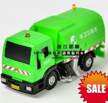 Cars garbage truck alloy road sweeper clean car eco-friendly car sanitation trucks acoustooptical WARRIOR