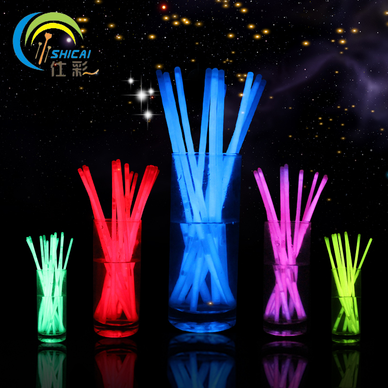 New Fashion 100Pcs Multicolor Glow Stick Light Bracelets Party Fun Glow Bracelet dance party supplies free shipping(China (Mainland))
