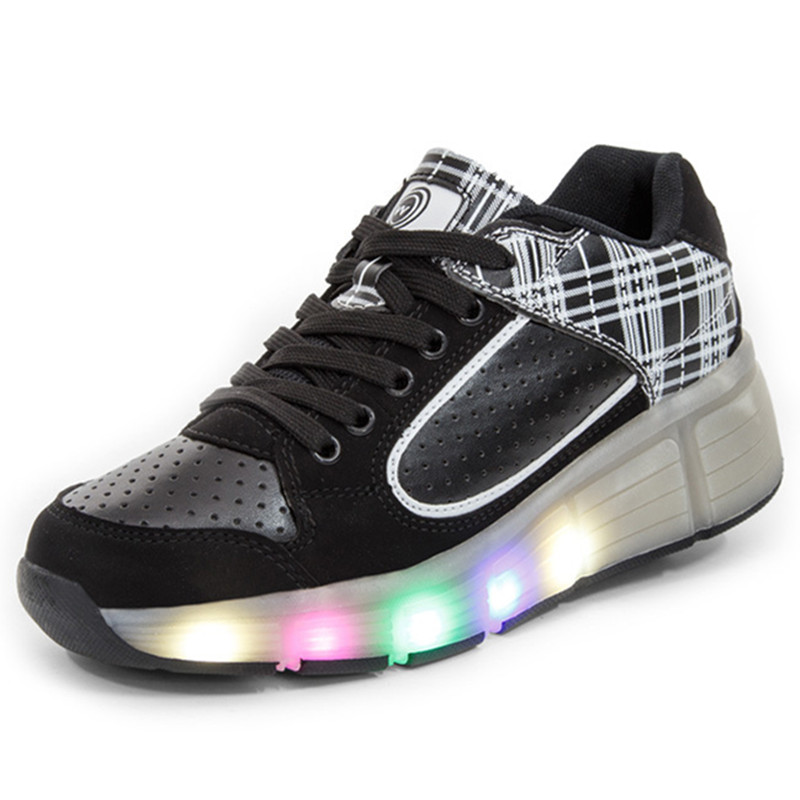 Hot Women Heelys Jazzy Junior LED Light Roller Skate Shoes Wheels 34-40  -  Go Lady Lady store