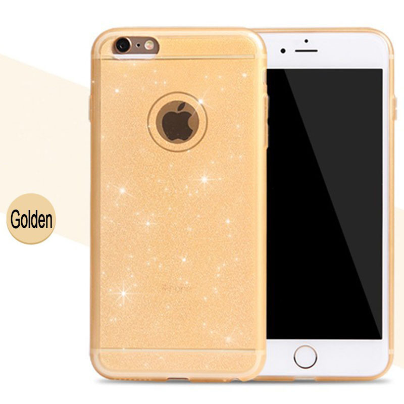 Glitter Clear Shiny Cover Case For iPhone 6 Plus 6S Plus Coque TPU Soft Shining Bling Gel Phone Cases For iPhone 6/S Plus Capa