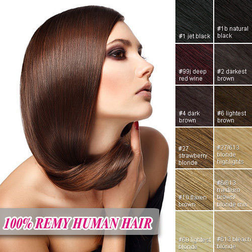 Фотография Clip In Human Hair Extensions 8Pieces Human Hair Clip In Extensions 100G Clip In Hair Extension Rita Brazilian Clip In Hair