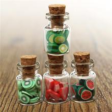 New Arrival 4pcs/Set 1:12 Dollhouse Miniature accessories DIY Various Mini Fruit Bottles Canned Unique design(China (Mainland))