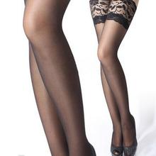 5 цвета1 пара горячая распродажа сексуальных женщин девушки леди отвесные кружевные Top бедренной кости сексуальное белье колготки чулки колготки белье