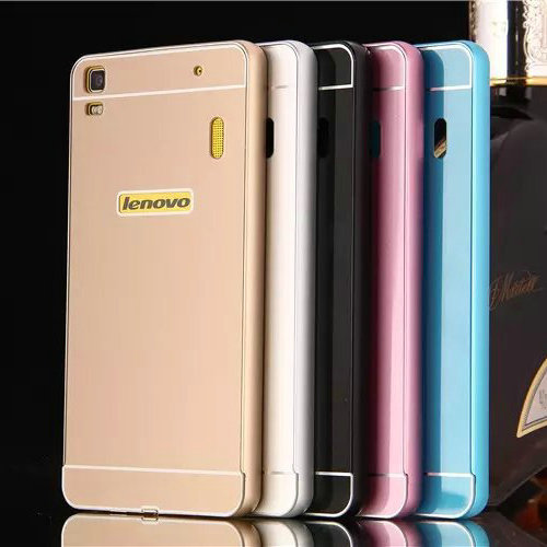 2015 Hot Lenovo Lemon K3 Note Metal Case Acrylic Back Cover & Aluminum Frame Set Phone Bag Cases for Lenovo K3 Note(China (Mainland))
