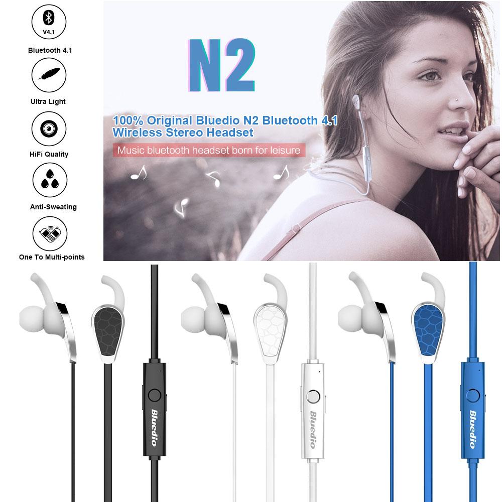 Original Bluedio N2 Bluetooth 4.1 Wireless Stereo Headset Headphones Earphones In-ear Earbuds Sports Gym - Shenzhen Koston Technology Co., Ltd. store