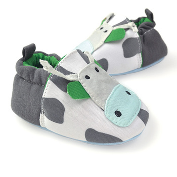 free shipping boy baby fabtic milkcow kids first walker shoes white lovely winter children shoes soft  pre-walkers babyshoes