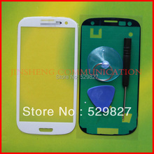 1pcs free shipping glass for  s3 i9300 i535 L710 i747 T999 top glass + free tool and sticker(China (Mainland))