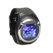 Black 1.5inch Touch Screen Unlocked GSM Camera FM MP3 GPRS Watch Cell Phone(China (Mainland))