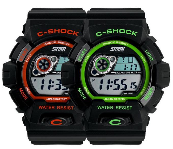 2014 Fashion Watch Men Sports Watches Outdoor Climbing Swim 50M Waterproof LED Digital Multifunctional Wristwatch Student Clock<br><br>Aliexpress