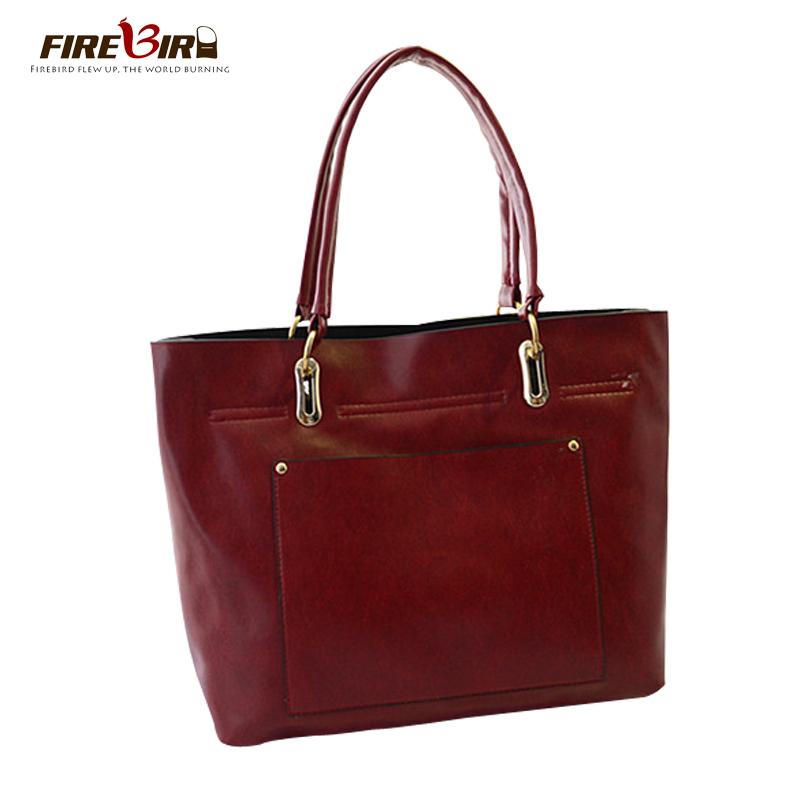 FIREBIRD!Korean version Fashion simple woman bags 2015 bag handbag fashion handbags  New casual portable pu leather handbag H185<br><br>Aliexpress