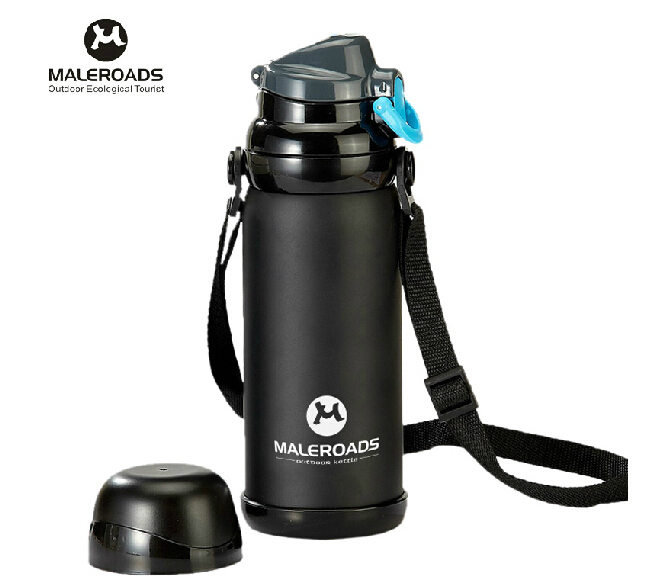 800ML Vacuum stainless steel flask water bottle cup thermos vacuum bottle stainless steel sport bottle water Package mail(China (Mainland))