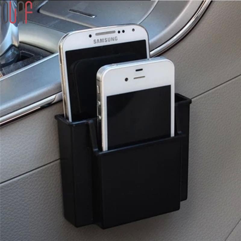 2016 Multifunctional Car Cell Phone Holder Black Mobile Phone Charge Box Holder Pocket Organizer Car Seat Bag Storage for iPhone(China (Mainland))