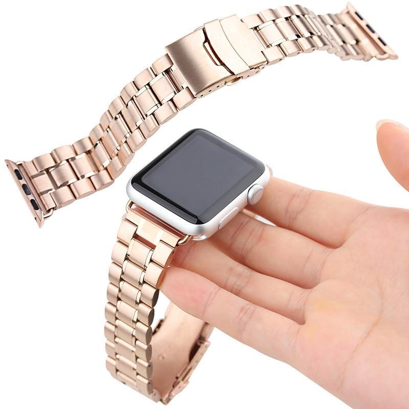Для Apple Watch Band Премиум Нержавеющей Стали Ремешок Ссылка Браслет С Разъем Адаптера 22 мм 24 мм ремешок для часов