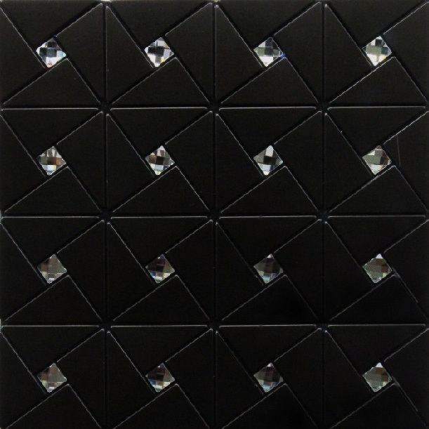 Modern black kitchen backsplash tile bathroom wall tiles decor mesh metal black stickers adhesive tile the kitchen mosaic ideas<br><br>Aliexpress