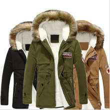 New 2015 Thick Warm Winter Jacket Men Hooded Overcoat Fluff Lining Down Coats Parka Casual Jackets Brand Outerwear XXXL(China (Mainland))
