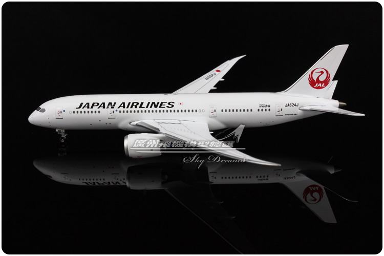 14.2cm 1:400 Alloy Air Japan Airlines JAL Boeing B787 8 JA824 Plane Model Airplane Model Toy Collections Decoration Gift(China (Mainland))
