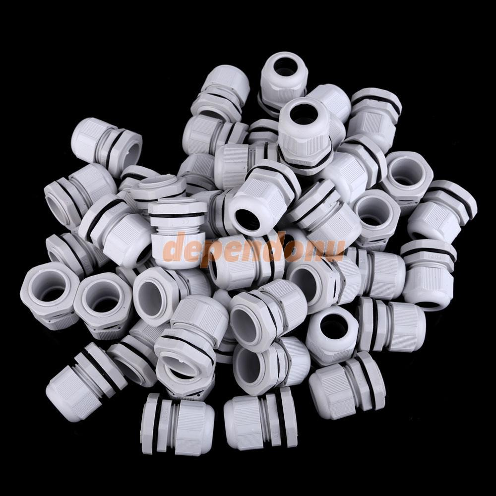 50 PCS White Thread Water-proof Cable Wire Connector Joints Fittings PG21<br><br>Aliexpress