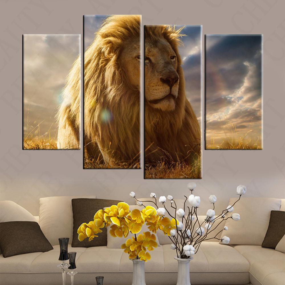 Hoge kwaliteit leeuw canvas koop goedkope leeuw canvas loten van ...