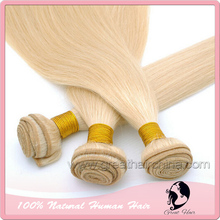 14″-26″ Slavic Hair Weaves 613# Color, Straight Blonde Natural Hair Extension 1 Piece/ Lot Machine Weaving Hair FREE SHIPPING