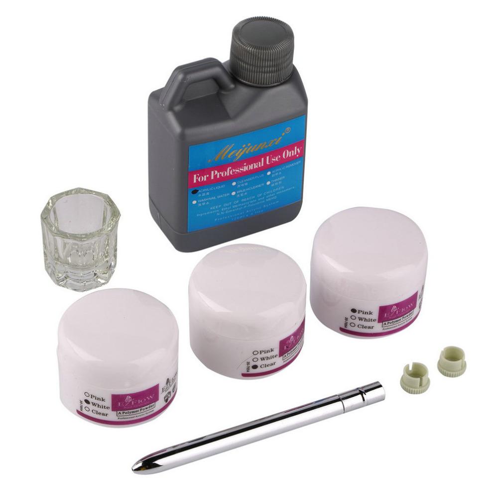 High Quality Portable Nail Art Tool Kit Set Crystal Powder Acrylic Liquid Dappen Dish NO1<br><br>Aliexpress